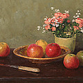 Still Life With Red Apples by Alexander Alexandrovsky