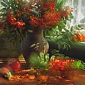 Still Life With Rowan by Iryna Tuyakhova