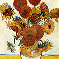 Still Life With Sunflowers by Vincent Van Gogh