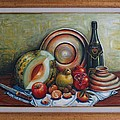 Still Life With Water Melon by Kazim C