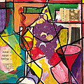 Still Life With Wine And Fruit B by Everett Spruill