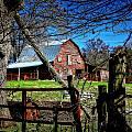 Still Useful Rustic Red Barn Art Oconee County by Reid Callaway