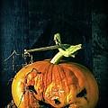 Stingy Jack - Scary Halloween Pumpkin by Edward Fielding
