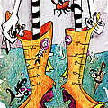 Stivali Acqua Alta - Children Book Illustration - Venezia by Arte Venezia