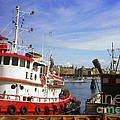 Stockholm Harbor Ships by Ted Pollard