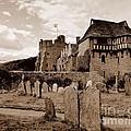 Stokesay Castle Sepia by John Chatterley