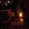 Stoking The Sauna by John Higby