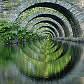 Stone Arch Bridge Over Troubled Waters - 1st Place Winner Faa Optical Illusions 2-26-2012 by Ericamaxine Price