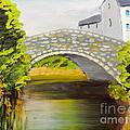 Stone Bridge At Burrowford Uk by Pamela  Meredith
