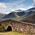 Stone Bridge In Mountain Landscape by John Short