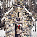 Stone Chapel In The Woods Trapp Family Lodge Stowe Vermont by Edward Fielding