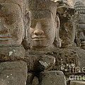 Stone Figures Cambodia by Bob Christopher