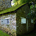 Stone House With Mossy Roof by Bill Cannon