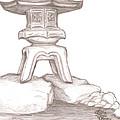 Stone Lantern by Jeffrey Oleniacz
