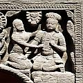Stone Relief In Patan's Durbar Square by U Schade