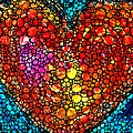 Stone Rock'd Heart - Colorful Love From Sharon Cummings by Sharon Cummings