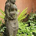 Stone Statue In Bali Indonesia  by Jacek Malipan