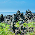 Stone Walls Made By Tourists by Michael Runkel