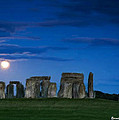 Stonehenge At Night by Bruce Nutting