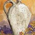 Stoneware Jug by Linda L Martin