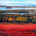 Stonington Bridge In Autumn by Laura Tasheiko