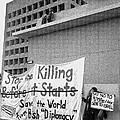 Stop The Killing Say No To Israel Anti-war Protestors Tucson Arizona 1991 by David Lee Guss