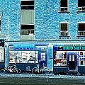 Stores On Ossington In Blue by Valentino Visentini