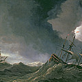 Storm At Sea by Willem van de II, Velde