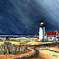 Storm At The Point by Joseph Burger