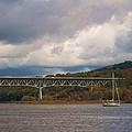 Storm Brewing Over Rip Van Winkle Bridge by Ellen Levinson