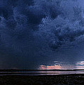 Storm Cell Over Lubec Maine by Marty Saccone