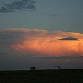 Storm Cloud And Oil Well by Nina Fosdick