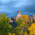 Storm Clouds Over Chimney Rock by Steve Stuller
