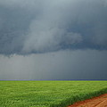 Storm Clouds Over Wheat Field 2am-6982 by Andrew McInnes