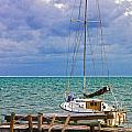 Storm Coming Caye Caulker Belize by Lee Vanderwalker