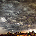 Storm Coulds Over Nyc by Jerry Fornarotto
