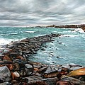 Storm In Rockport Harbor by Eileen Patten Oliver