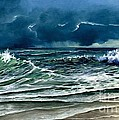 Storm Off Yucatan Mexico by Lynne Wright