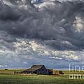Storm Over Barn by Steve Triplett
