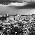 Storm Over San Antonio Texas Skyline by Silvio Ligutti