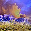 Storm Over The Superstitions by Dominic Piperata