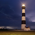 Stormy Bodie Lighthouse Outer Banks I by Dan Carmichael