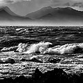 Stormy Coast New Zealand In Black And White by Amanda Stadther