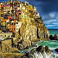 Stormy Day In Manarola - Cinque Terre by Dominic Piperata