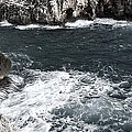 Mediterranean Sea And Rocks Sculpted By Wind And Salt In South Of Menorca by Pedro Cardona Llambias