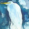 Stormy Egret by Christine Callahan