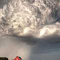 Stormy Homestead Barn by Thomas Zimmerman
