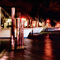 Stormy Night In The Marina - Outer Banks by Dan Carmichael