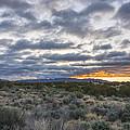 Stormy Santa Fe Mountains Sunrise - Santa Fe New Mexico by Brian Harig
