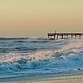 Stormy Seas Avon Pier 9 11/03 by Mark Lemmon